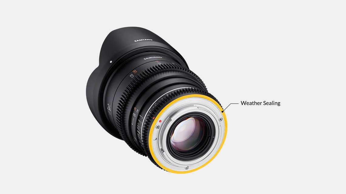 Samyang VDSLR 24mm T1.5 MK2 Lens - New: Weather Sealing