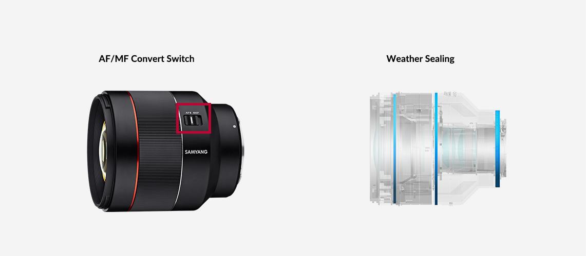 Samyang AF 85mm F1.4 RF Lens (for Canon RF) - Enhanced Usability