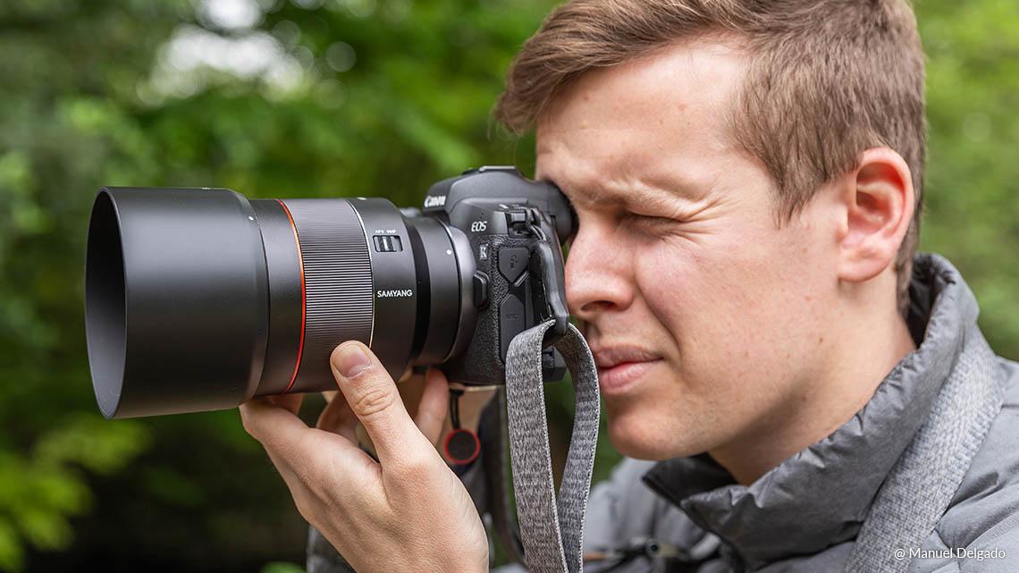 Samyang AF 85mm F1.4 RF Lens (for Canon RF) - Lightweight and Compact 85mm Lens