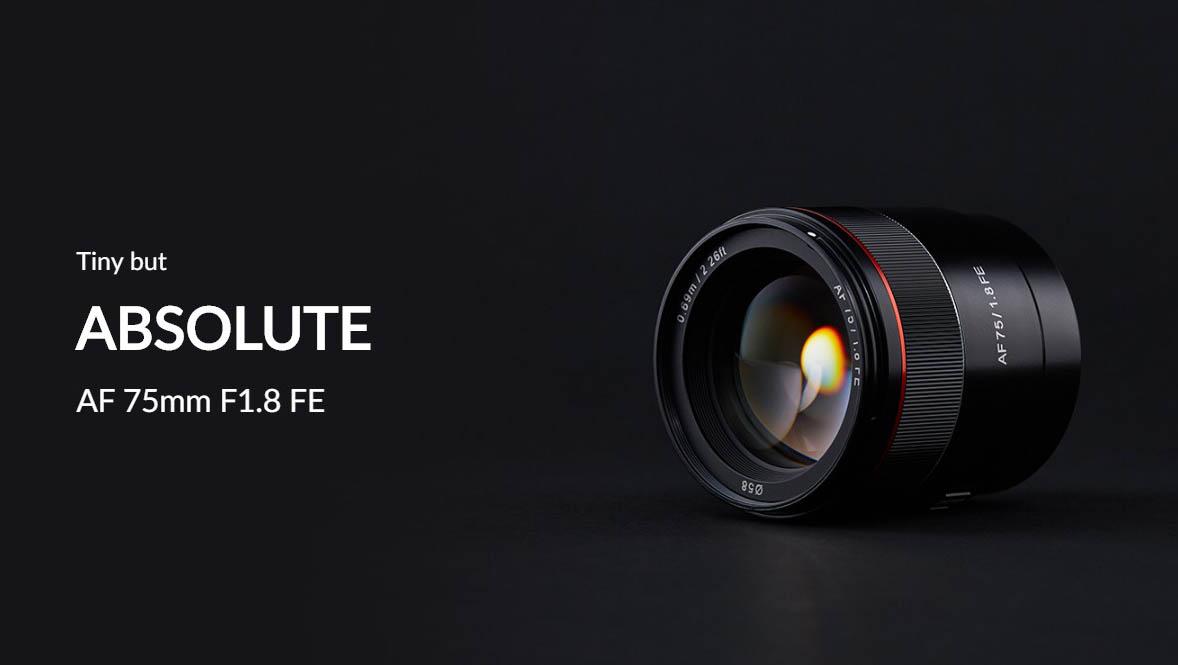 Samyang AF 75mm F1.8 FE Lens (for Sony E)
